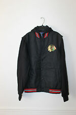 New NHL Chicago Blackhawks polyester cotton hooded jacket men's L ONLY 1