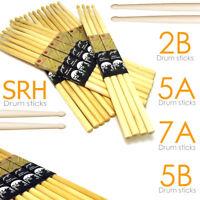 Drum Sticks 5A/5B/7A/2B/SRH Drumsticks Maple High Quality Wood tip Pro Feel