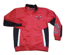 NBA Chicago Bulls Men's Majestic XLT Tall Stitched Track Jacket Red Black EUC