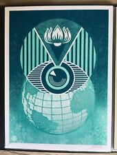 Shepard Fairey OBEY Flint Eye Globe Alert Signed & Numbered /450  W/ COA
