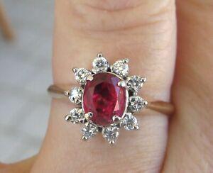 $5,400 Natural Red Spinel Diamonds 18k Rose Gold Ring