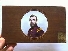 General Philip Sheridan - 1860s Magic Lantern Glass Slide - Civil War Tax Stamp