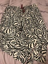 Nwt Womens Sleep Pants - Adonna Zebra Print Size Large