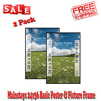24x36 Thin Poster and Picture Frame for Home, Office and Business Use Black 2 pk