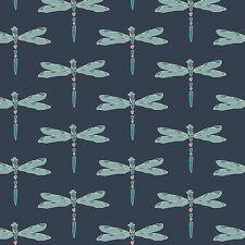 By 1/2 Yard Nightfall Nox Iridescence Dim Art Gallery Fabric AGF ~ Dragonfly Bug