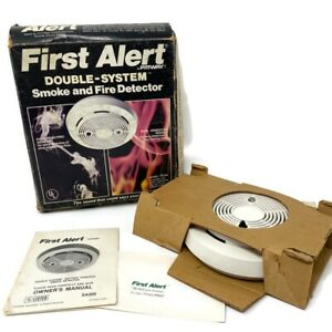 🔴 Vintage First Alert Pittway Double-System Smoke & Fire Detector SA300 NOS
