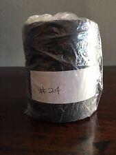 waxed linen thread, Black 24 ply