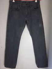 Levi's Selvedge Matchstick Slim Straight Jeans Red Tab Denim in Black 34 x 32