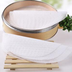 5Pcs Kitchen Silicone Steamer Mesh Non-stick Pads Round Shape Dumplings Mat US*