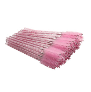 GLITTER Eyelash Brush Disposable Lash Extension Wand Mascara CRYSTAL Spooler