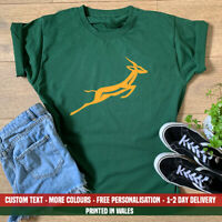Kids Springbok Rugby Ball T-shirt South Africa African Cricket Birthday Gift Top