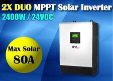 3KVA 2400w 24v 230v SOLAR INVERTER + 80a MPPT solar charger 60A battery charger