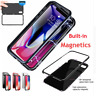 Tempered Glass Cover Case Magnetic Metal Flip For iPhone X XS Max XR 11 Pro MAX