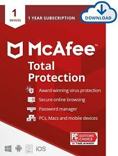 1 year McAfee Total Protection for 1 device