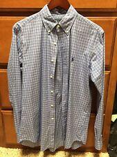 Polo Ralph Lauren Mens Long Sleeve Button Up Collared Shirt Medium Classic Fit