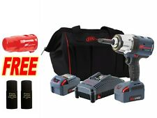 Ingersoll Rand W7252 K22 20v 12 Impact Wrench Kit With 2 Anvil Amp 2 Batteries