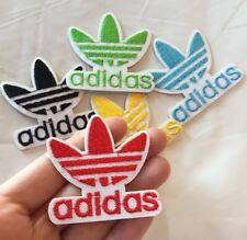 "Red Adidas Logo Embroidered Patch Iron On 2"" Traditional Adidas Symbol"