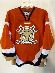 Reebok Youth ECHL Jersey SAN FRANCISCO Bulls Team Orange sz S/M