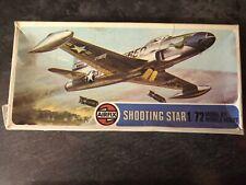 Vintage Airfix 02043 1/72 Lockheed F-80C Shooting Star Plastic Model Kit