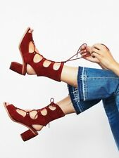 Jeffrey Campbell for Free People 'Lola' Lace Up Gladiator Heels In Size 8 Rust