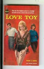 LOVE TOY by Harris, Midwood Book #F380 sleaze gga lesbian vintage pb, RADER art