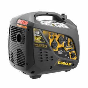 Firman 1600W Running / 2000W Peak Gasoline Powered Inverter Generator NEW