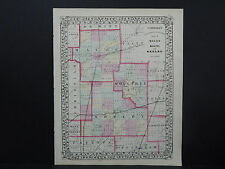 Illinois County Map 1870, Macon, Moultry, & Shelby Z1#10
