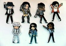 Set of Seven  MICHAEL JACKSON Figure Fridge Magnets