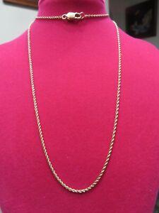 "BEAUTIFUL 18 K Yellow Gold 22 1/2"" Rope Chain  4gr"