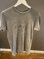 MENS MARC JACOBS GREY T SHIRT WITH GRAPHIC OF MARC FIST SIZE SMALL 100% COTTON