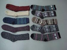 NWOT Women's Merino Wool Blend Socks Shoe Size 6-9 Multi 10 Pair #993A