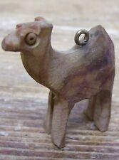 Wooden Wood Camel Pendant Mini Miniature Figurine Figural