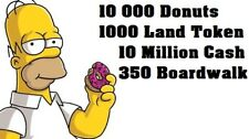 Simpsons Tapped Out - 10 000 Donuts - 1000 Land Token - 10 Million Cash and More