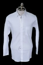 NWT CLUB ROOM Performance White Nailhead Cotton Slim Fit Dress Shirt 16 41