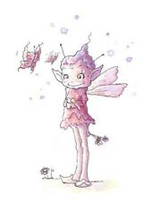 Fairy Fantasy Pixie Butterfly Art Print Florence Anderson Attwell Style