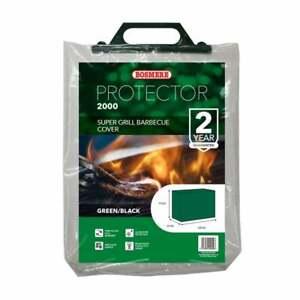 Super Grill Barbecue Cover 155x61x97cm BBQ Protector Green/Black Bosmere