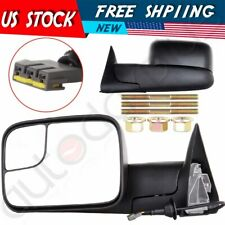 For 94-97 Dodge Ram Pickup Truck Power Side w/ Brackets Towing Mirrors Pair Set