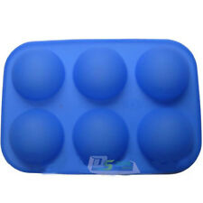 6cav Half Ball Sphere Chocolate Muffin Cup Cake Pastry Silicone Mold Baking Tray