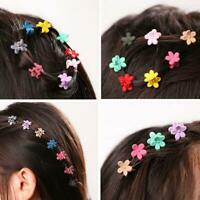 10 Pcs Kids Baby Girls Candy Colour Hairpins Mini Claw Hair Clips Clamp Flower