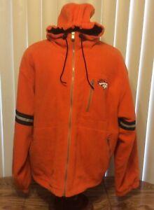 Champion VTG 90s Denver Broncos Horse Head Orange Fleece Hoodie Jacket Mens XL