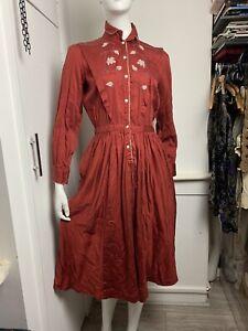 Vintage 1970s Rene Derhy Cotton Shirt Dress