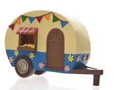 NEW  FAIRY GARDEN MINIATURE HOUSE - The fairy caravan - 14cm - Hand painted