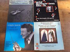 4 LPs Vinyl Albums Bruch Violin Concerto Jazz Bach London Sinfonia Tchaikovsky