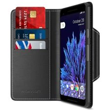 Google Pixel 2 XL Wallet Case PU Leather Flip Cover w/ Card Slot Side Pocket