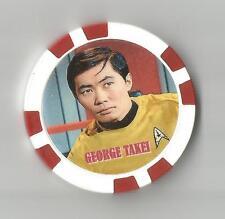 "STAR TREK ""HIKARU SULU"" GEORGE TAKEI    COLLECTOR CHIP"