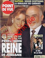 Point de vue 2436 11/04/1995 Noor Hussein Jordanie Camondo Bal de la rose Monaco