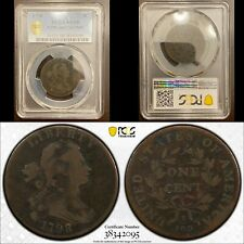 1798 Draped Bust Large Cent Copper PCGS VG8 Sheldon S186 2nd Hair Style TrueView