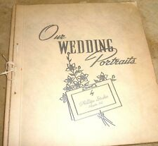 PHOTO ALBUM OF A WEDDING FROM THE 1950's 8 LOVELY PHOTOS USA LAFAYETTE INDIANA