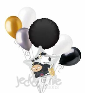 7pc Family Guy Stewie Brian Grad Congratulations Grad Balloon Bouquet Graduation