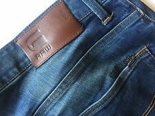 G-STAR RAW 3301 Super Slim Skinny Bleu Délavé Jeans 34/32 38/32 revend FREE POST